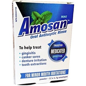 Amosan Oral Antiseptic Rinse for Canker Sore Relief