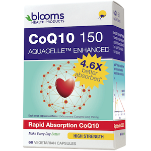 Blooms CoQ10  Aquacelle Enhanced for Health & Well-Being