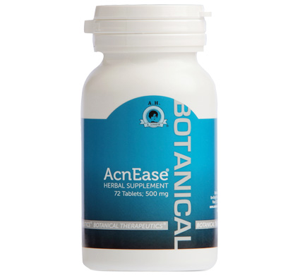 bottle of acnease for acne treatment