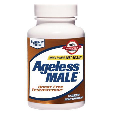 bottle of Ageless Male supplements