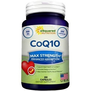 bottle of aSquared Nutrition CoQ10