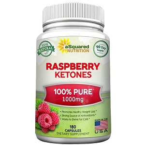 bottle of aSquared Nutrition Pure Raspberry Ketones