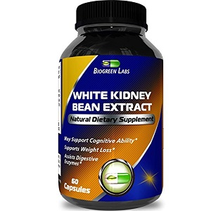bottle of Biogreen Labs White Kidney Bean Extract Natural Dietary Supplement