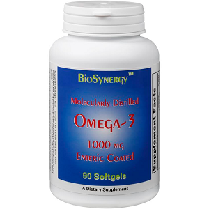 bottle of BioSynergy Molecularly Distilled Omega-3