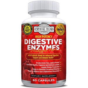 bottle of Crystal Clear Solutions Digestive Enzymes