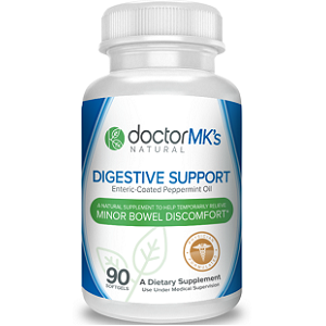 bottle of Doctor MK's IBS Relief Supplement