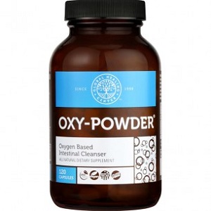 bottle of Global Healing Center Oxy-Powder