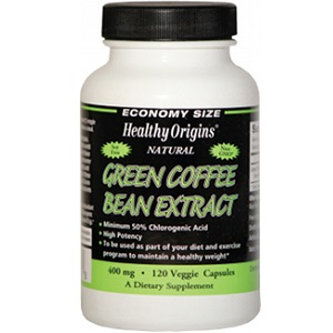 bottle of Healthy Origins Green Coffee Bean Extract