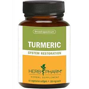 bottle of Herb Pharm Turmeric System Restoration