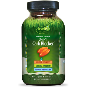 bottle of Irwin Naturals 3-In-1 Carb Blocker