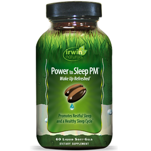 bottle of Irwin Naturals Power to Sleep PM