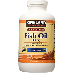 bottle of Kirkland Signature Fish Oil