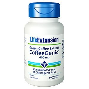bottle of Life Extension CoffeeGenic Green Coffee Extract