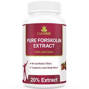 bottle of LiveWell Labs Pure Forskolin Extract
