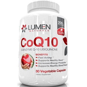 bottle of Lumen Naturals Coenzyme Q10 Ubiquinone