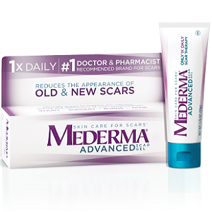 bottle of Mederma Advanced Scar Gel