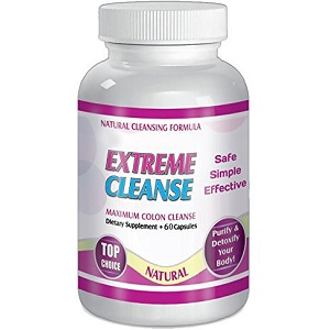 bottle of Natural Cleansing Formula Extreme Cleanse