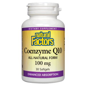 bottle of Natural Factors Coenzyme Q10