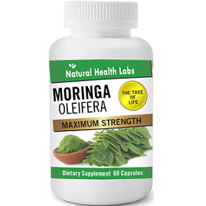 bottle of Natural Health Labs Moringa Oleifera
