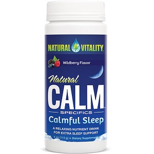 bottle of Natural Vitality Calmful Sleep