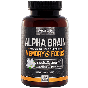 bottle of Onnit Alpha Brain