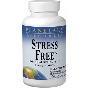 bottle of Planetary Herbals Stress Free Botanical Stress Relief