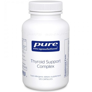 bottle of Pure Encapsulations Thyroid Support Complex