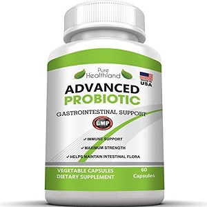 bottle of Pure Healthland Advanced Probiotic