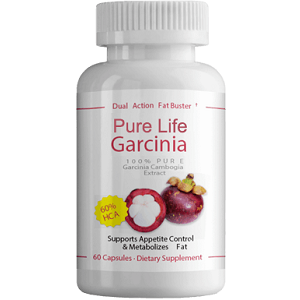 bottle of Pure Life Garcinia Extract