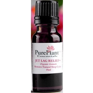 bottle of Pure Plant Essentials Jet Lag Relief