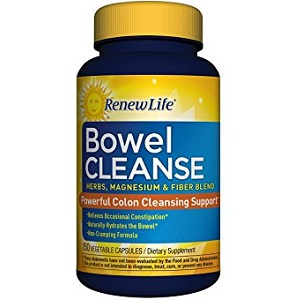 bottle of Renew Life Bowel Cleanse