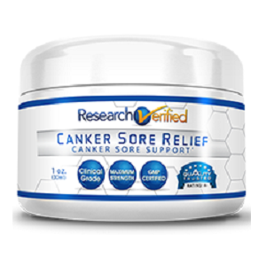 bottle of Research Verified Canker Sore Relief