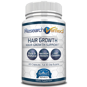 bottle of Research Verified Hair Growth
