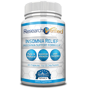 bottle of Research Verified Insomnia Relief