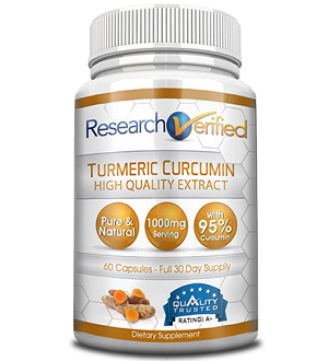 bottle of Research Verified Turmeric