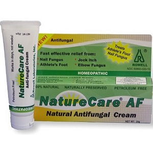 bottle of Rowell Laboratories Nature Care AF Antifungal Cream
