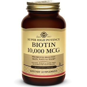 bottle of Solgar Biotin