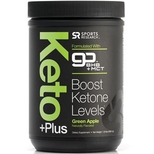 bottle of Sports Research Keto Plus