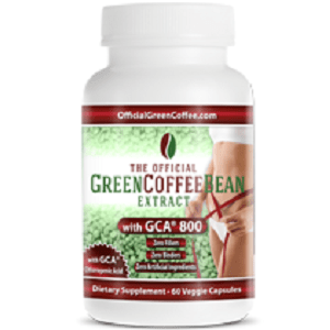 bottle of The Official Green Coffee Bean Extract