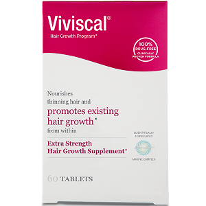 bottle of Viviscal Extra Strength Hair Growth Supplement For Women