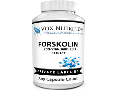 bottle of Vox Nutrition Private Label Forskolin