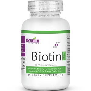 bottle of Zenith Nutrition Biotin