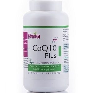 bottle of Zenith Nutrition CoQ10 Plus