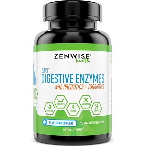 bottle of Zenwise Health Daily Digestive Enzymes