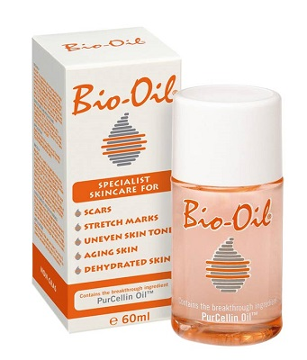 box and bottle of bio oil for skin