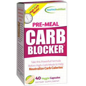 box of Applied Nutrition Pre-Meal Carb Blocker