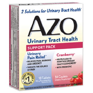 box of AZO Urinary Tract Health Support Pack