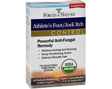 box of Forces of Nature Athlete's Foot Jock Itch Control