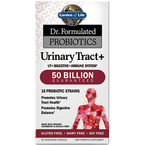 box of Garden of Life Dr. Formulated Probiotics Urinary Tract+ 50 Billion CFU
