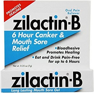 box of Zilactin-B Long Lasting Mouth Sore Gel